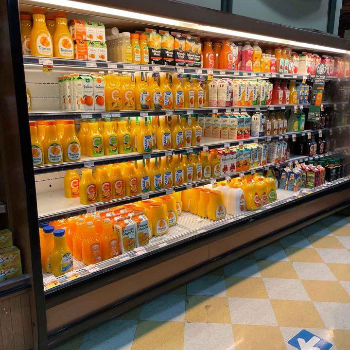 Réfrigérateur commercial à jus ou lait
